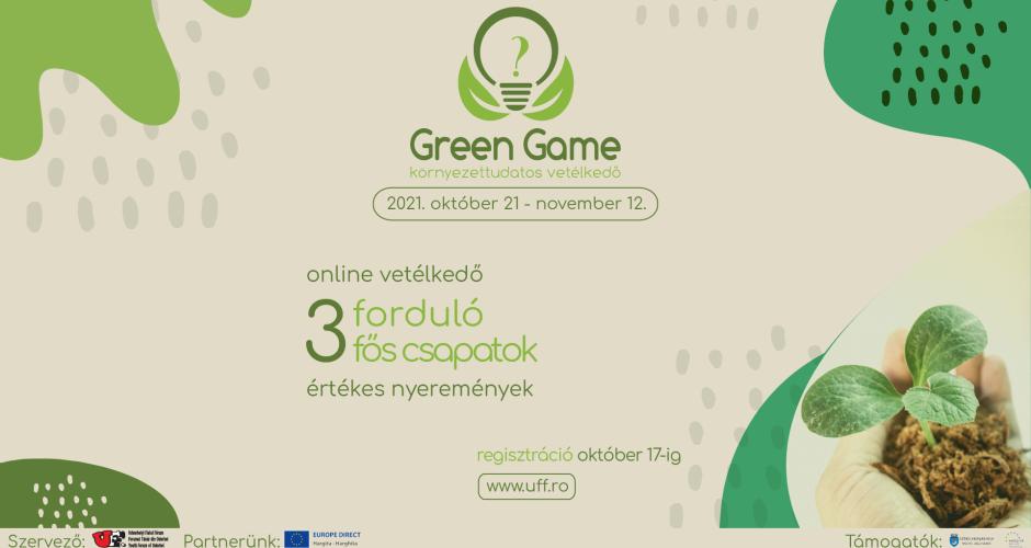 Green Game környezettudatos vetélkedő